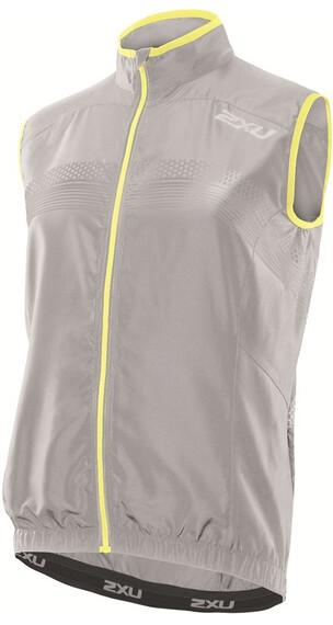 2XU M's Microclimate Reflector Vest Concrete Grey/Pale Yellow